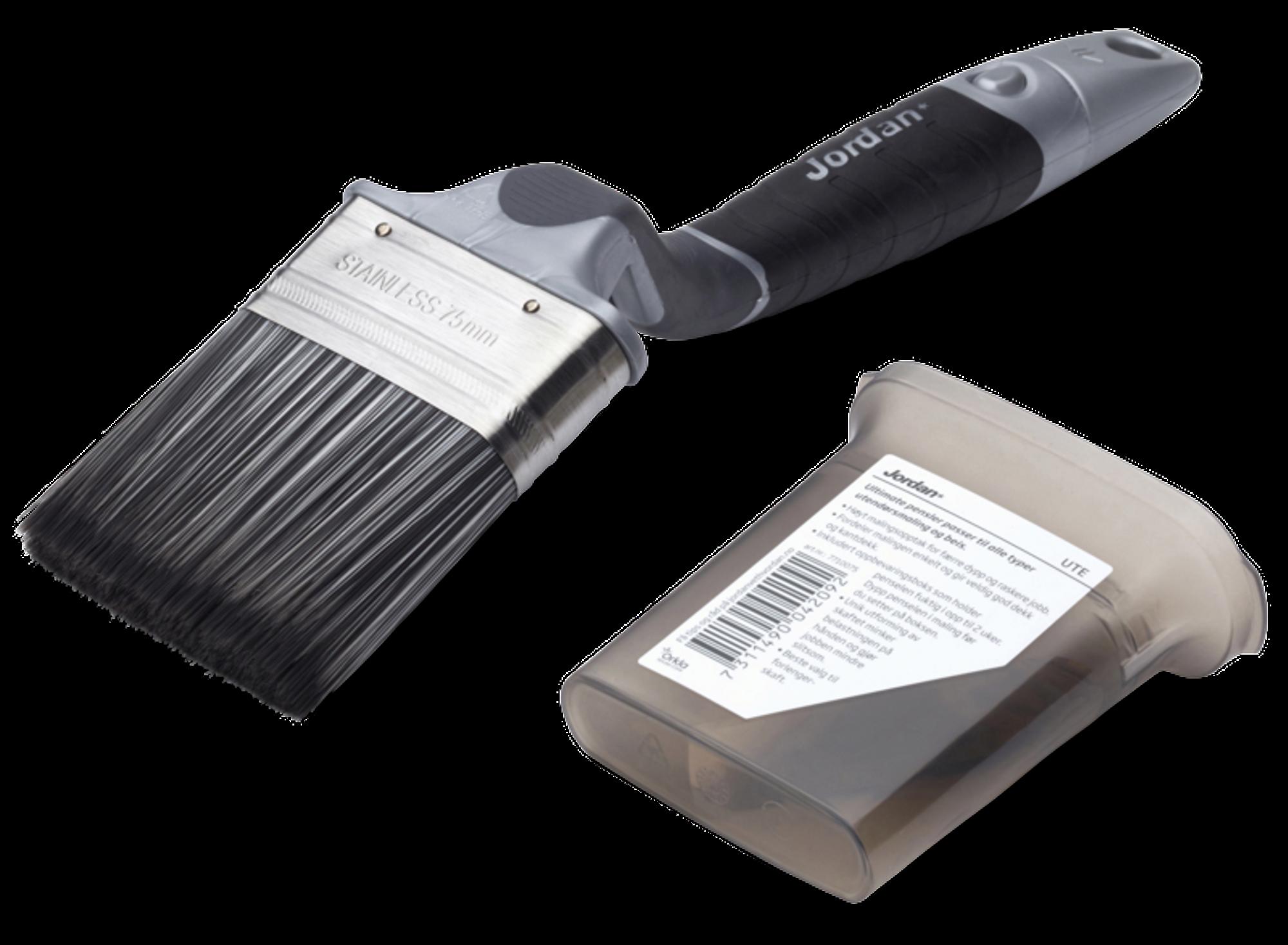 Vinklet pensel til bruk på husvegger og gjerder